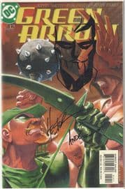 Green Arrow #12 Dynamic Forces Signed Ande Parks Phil Hester Remarked Sketch DF DC comic book