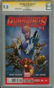 Guardians Of The Galaxy #1 CGC 9.8 Signature Series Signed Stan Lee & Michael Rooker Marvel comic