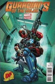 Guardians Of The Galaxy #1 Dynamic Forces Deadpool Variant DF COA Movie Marvel comic book