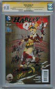 Harley Quinn #7 Bombshell Variant CGC 9.8 Signature Series Signed x4 Conner Palmiotti Lucia DC comic