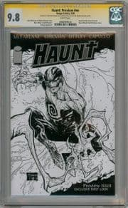Haunt Preview CGC 9.8 Signature Series Signed Todd McFarlane Ottley Image comic book