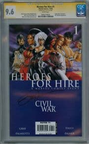 Heroes For Hire #1 CGC 9.8 Signature Series Signed Billy Tucci Shang Chi Movie