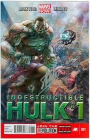 Indestructible Hulk #1 First Print Signed Stan Lee Marvel Now comic book