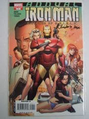 Iron Man Annual #1 Dynamic Forces Signed Number Matched Set COA Ltd 9 DF