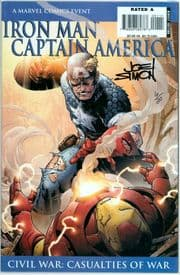 Iron Man Captain America Casualties Of War #1 Dynamic Forces Signed Joe Simon DF COA Ltd 20