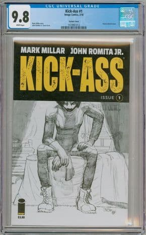Kick-Ass #1 2018 John Romita Jr Sketch Variant CGC 9.8 Image Comics Mark Millar