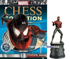 Marvel Chess Collection #65 Ultimate Spider-man with chess board Eaglemoss Publications