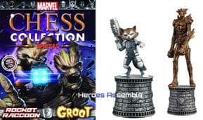 Marvel Chess Collection Special #2 Rocket Raccoon & Groot Guardians Of The Galaxy GOTG Eaglemoss Publications