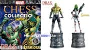 Marvel Chess Collection Special #4 Drax & Gamora White Bishops Guardians Of The Galaxy GOTG Eaglemoss