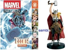 Marvel Fact Files Mighty Thor Jane Foster Special With Figurine Eaglemoss
