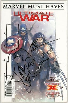 Marvel Must Haves Ultimate War #1 Signed Thibert Venom Sketch Jay Company COA Ltd 25