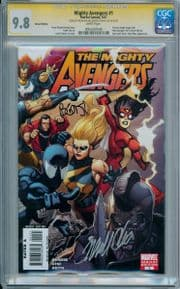 Mighty Avengers #1 Retail Variant 1:100 CGC 9.8 Signature Series Signed Bendis Cho Marvel comic