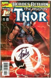 Mighty Thor #1 Sunburst Variant Dynamic Forces Signed Stan Lee DF COA #1 Ltd 5 Marvel comic book