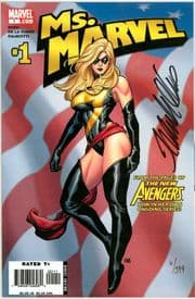 Ms. Marvel #1 Dynamic Forces Signed Cho & Palmiotti Matching Set DF COA Marvel comic book
