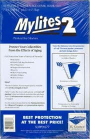 Mylites 2 Silver & Golden Age Size Mylar Bags x50 E.Gerber Archival Storage Supply677
