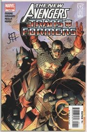 New Avengers Transformers #1 Dynamic Forces Signed Jim Cheung DF COA Ltd 180 Marvel comic book