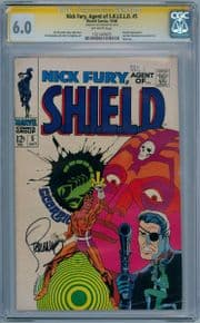 Nick Fury Agent Of Shield #5 CGC 6.0 Signature Series Signed Jim Steranko Marvel comic book