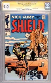 Nick Fury Agent Of Shield #7 CGC 9.0 Signature Series Signed Jim Steranko Marvel