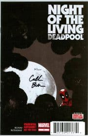 Night Of The Living Deadpool #1 First Print Dynamic Forces Signed Cullen Bunn DF COA Marvel comic book