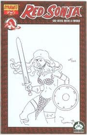 Red Sonja #25 Dynamic Forces Sketch Variant Signed Remarked Mark Pennington DF COA Ltd 100 DE comic