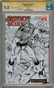 Onslaught Reborn #1 Variant CGC 9.8 Signature Series Signed Rob Liefeld Marvel comic book