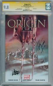 Origin II CGC 9.8 Signature Series Signed Adam Kubert Herb Trimpe Wolverine Marvel comic