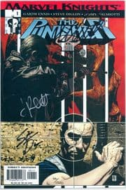 Punisher #1 Dynamic Forces Signed x3 Ennis Dillon Palmiotti DF COA Marvel comic book