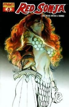 Red Sonja #0 Sketch Preview Retail Incentive Variant 1:100 RRP Alex Ross