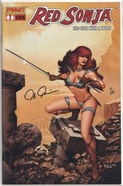 Red Sonja #1 Dynamic Forces Signed Paulo Rivera DF COA #7 Ltd 199 Dynamite Entertainment