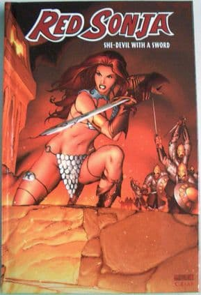 Red Sonja #1 Hardcover Graphic Novel Signed Michael Avon Oeming Limited Edition