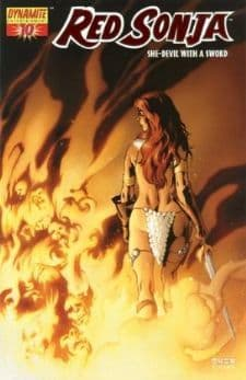 Red Sonja #10 Dynamic Forces DFE Fiery Red Foil Edition COA