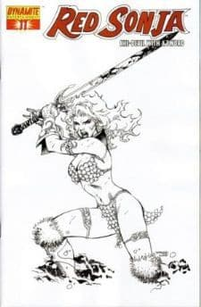 Red Sonja #11 Jim Lee Sneak Peak Sketch Retail Incentive Variant comic book DE