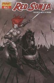 Red Sonja #15 Steve McNiven Black White & Red Retail Incentive Variant