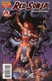 Red Sonja #25 Rubi Fiery Red Foil Variant COA Ltd 555 Dynamite Entertainment comic book