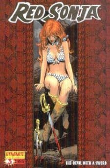 Red Sonja #3 Neal Adams Gold Foil 1:100 Retail Incentive Variant