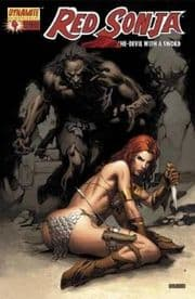 Red Sonja #4 Fiery Red Foil High End Edition Ltd 499