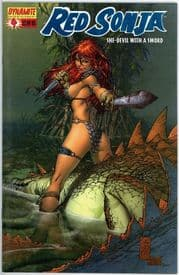 Red Sonja #4 Marc Silvestri Dynamic Forces Blue Foil Variant  DF COA Ltd 500 Dynamite