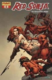 Red Sonja #5 Dynamic Forces Mel Rubi High End Red Foil COA Ltd 600 DF