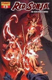 Red Sonja #6 Dynamic Forces Rubi High End Red Foil COA Ltd 600 DF