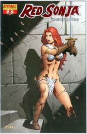 Red Sonja #8 High End Red Foil Variant 9.8 CGC It COA Ltd 499 Dynamite Ent
