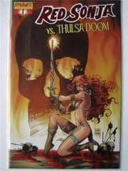 Red Sonja vs. Thulsa Doom #1 DF Will Conrad Red Foil Variant COA Ltd 699