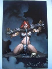 Savage Red Sonja #2 Frank Cho Virgin Retailer Variant