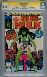 Savage She-Hulk #1 CGC 9.6 Signature Series Signed Stan Lee Origin 1st App Marvel comic book