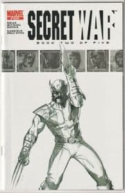 Secret War #2 Dell'Otto 2nd Second Print Sketch Variant 9.6 9.8 1st App Quake Marvel comic book