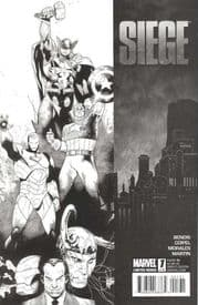 Siege #1 Coipel Retail Sketch Variant 1:75 (2010) Marvel comic book