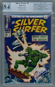 Silver Surfer #2 1968 PGX 9.4 Signature Series Signed Stan Lee Silver Age Marvel comic book