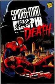 Spider-man Kingpin To The Death Dynamic Forces Signed Stan Lee & John Romita Sr DF COA Marvel