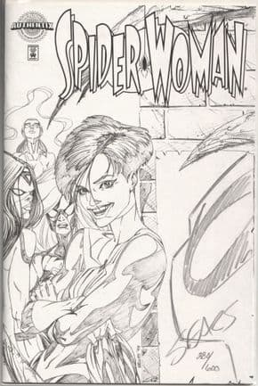 Spider-woman #1 Authentix Dynamic Forces Signed Remarked Bart Sears Sketch DF COA Marvel comic