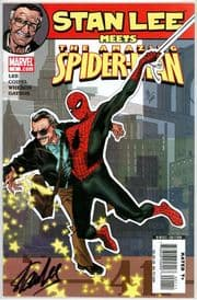 Stan Lee Meets The Amazing Spider-man Dynamic Forces Signed Stan Lee DF COA #8 Marvel comic book