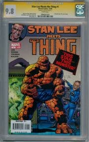 Stan Lee Meets The Thing #1 CGC 9.8 Signature Series Signed Stan Lee Fantastic Four Marvel comic book